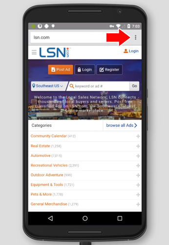 Android Home Screen Icon (Chrome) – LSN Support